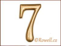 C2 Čísélko zlaté '7' rowell