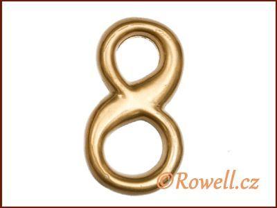 C2 Čísélko zlaté '8' rowell