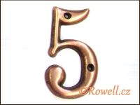 C2s Čísélko staroměď '5' rowell
