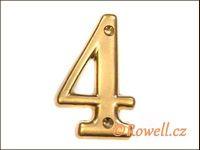 C2s Čísélko zlaté '4' rowell