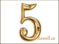 C2s Čísélko zlaté '5' rowell