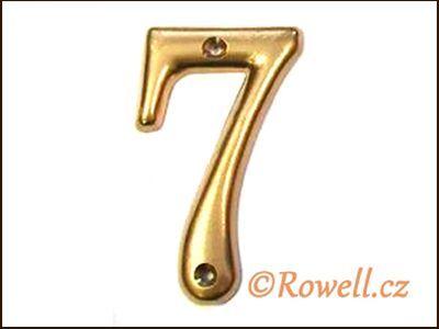 C2s Čísélko zlaté '7' rowell