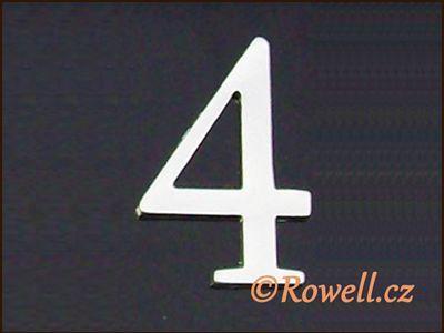 C5 Čísélko stříbro '4' rowell