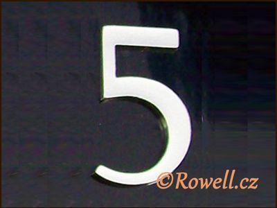 C5 Čísélko stříbro '5' rowell