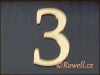 C5 Čísélko zlaté '3' rowell