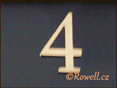 C5 Čísélko zlaté '4' rowell
