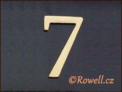 C5 Čísélko zlaté '7' rowell