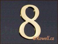 C5 Čísélko zlaté '8' rowell