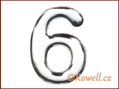 C37 Číslo 37mm stříbr. '6' rowell