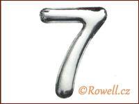 C37  Číslo 37mm stříbr. '7'