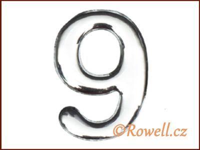 C37 Číslo 37mm stříbr. '9' rowell