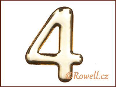 C37 Číslo 37mm zlatá '4' rowell