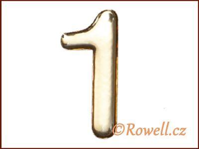 C53 Číslice 53mm zlatá '1' rowell