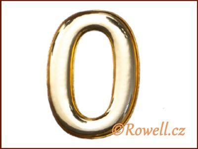 C53 Číslice 53mm zlatá '0' rowell