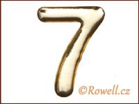 C53 Číslice 53mm zlatá '7' rowell