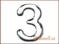 C53 Číslice 53mm stříb.'3' rowell
