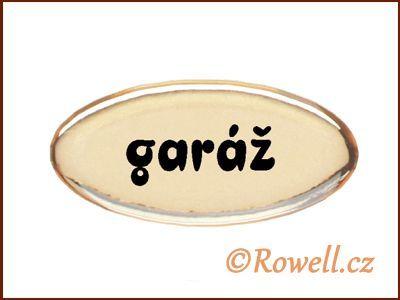 SD Štítek zlatý 'garáž' rowell