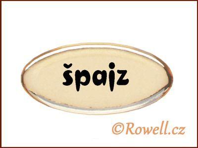 SD Štítek zlatý 'špajz' rowell