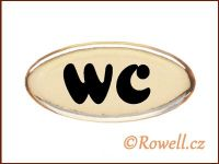 SD Štítek zlatý 'WC' rowell