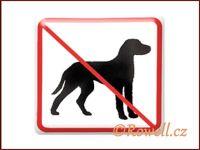 NZ 'Zákaz psů' /bílá/ rowell