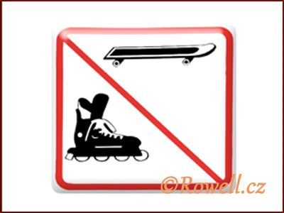 NZ 'Zákaz bruslí' /bílá/ rowell