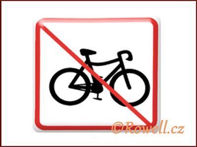 NZ 'Zákaz kolo' /bílá/ rowell