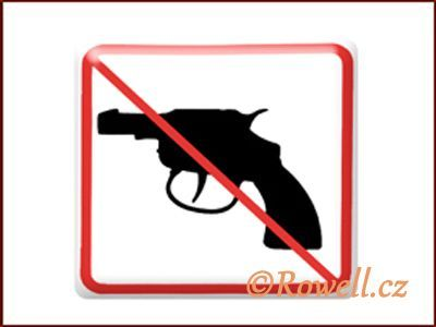 NZ 'Zákaz zbraň' /bílá/ rowell