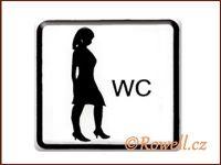 NO cedulka bílá  'WC dámy'