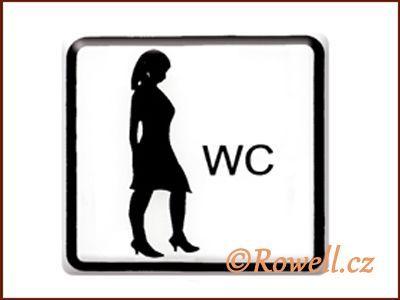 NO cedulka bílá 'WC dámy' rowell