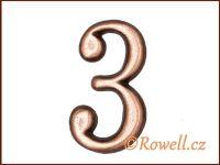 C2 Čísélko staroměď '3' rowell