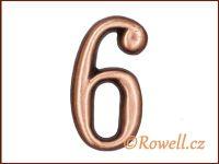 C2 Čísélko staroměď '6' rowell