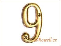 C2s Čísélko zlaté '9' rowell