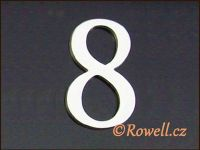 C5 Čísélko stříbro '8' rowell