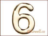 C37 Číslo 37mm zlatá '6' rowell