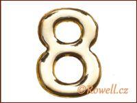 C53 Číslice 53mm zlatá '8' rowell