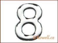 C53 Číslice 53mm stříb.'8' rowell
