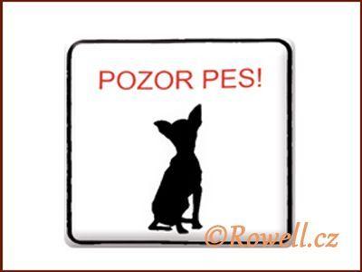 NO cedulka bílá 'Pes Malý' rowell