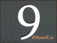 C5 Čísélko stříbro '9' rowell