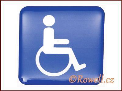 SiM2 invalida modrý 73x73 mm rowell