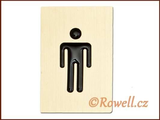 """C3D cedulka zlatá """"muži"""" rowell"""
