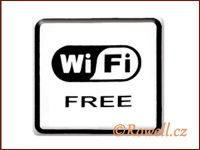 NO cedulka bílá  'Wi-fi'
