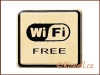 NO cedulka zlatá  'Wi-Fi'