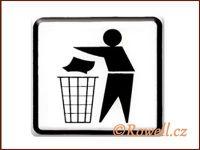 NO cedulka bílá 'Odpadky' rowell