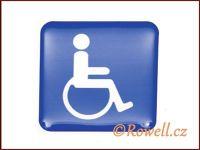 SiM1 invalida modrý 50x50 mm rowell