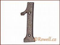 C4 Číslo 145mm kom.měď '1' rowell