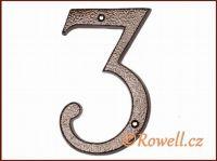 C4 Číslo 145mm kom.měď '3' rowell