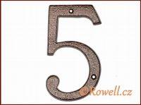 C4 Číslo 145mm kom.měď '5' rowell