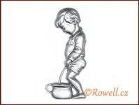 ST4v WC panáček stříbrná rowell