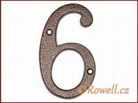 C4 Číslo 145mm kom.měď '6' rowell