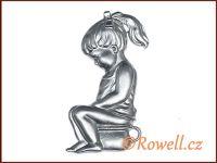 ST5 WC panenka stříbrná rowell